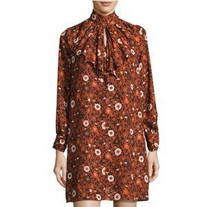 NWT Nanette Lepore Cascade-Ruffle Floral Dress